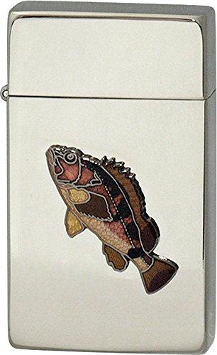 SAROME(サロメ) ガス ライター SRM 釣り 魚 シリーズ カサゴ シルバー 700216