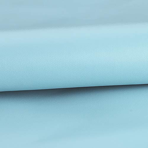 MUYUNXI Polipiel Cuero Artificial De Cuero para Tapizar Sofá Polipiel Silla Manualidades Cojines 138 Cm De Ancho Vendido por Metro(Color:Azul Claro)