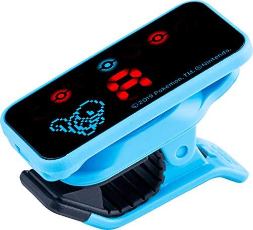 KORG Pitchclip PC2 Clip-On-Stimmgerät, chromatischer Tuner mit Klammerclip für Gitarre und Bass, Limitierte Pokémon Edition, Schiggy
