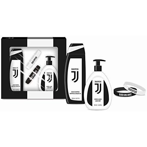 bracciale uomo juventus Juventus Official Product JUVENTUS GIFT SET Braccialetti (Docciashampoo + Sapone lIquido + set 2 bracciali) - 500 g