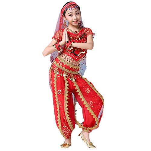 FF Meisjes Buik Dans Kostuum, Glanzende Carnaval Outfit Party Fancy Kinderpak, Kinderen Arabische Prinses Kleding Cosplay Danskleding