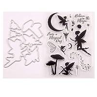WjingjingJ Angel Seal Stamp With Cutting Dies Stencil Set DIY Scrapbooking Embossing Photo Album Decorative Paper Card Craft Art Handmade 包丁型、手作り、お楽しみ、DIY