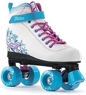 SFR Vision II patines de cuatro ruedas para niñas–color blanco y azul