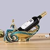 Estante de Vino de Belleza Minimalista Moderno decoración Muebles de Sala de Estar Accesorios para el hogar artesanías de Resina