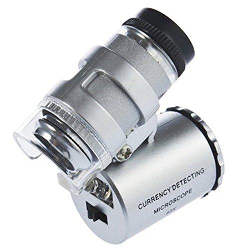 YKS LED-Mikroskop / LED-Objektiv, Zoom x 60, silberfarben
