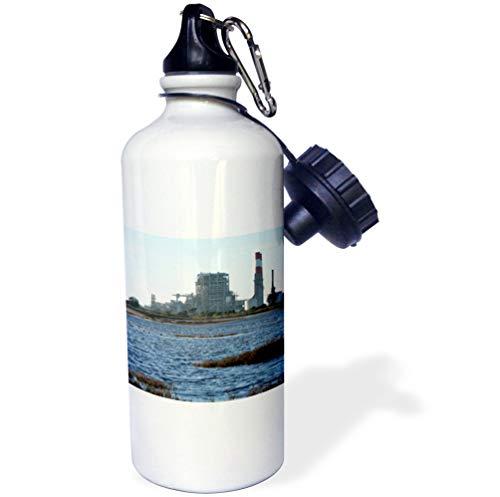 3dRose Henrik Lehnerer Designs - Industrial - Natural Gas Power Station Near Oxnard California. - 21 oz Sports Water Bottle (wb_200271_1)