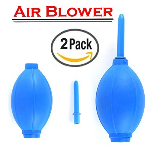 2 Pack of New Rubber Air Pump Cleaner Dust Blower for Keyboard,Digital SLR Camera, Lens, Watch, Cell Phone, Computer Laptop PC and Screen - Blue