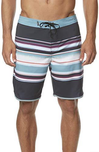 O'Neill Men's Hyperfreak Swim Boardshorts, 19 Inch Outseam Black / Lined Up Size 36