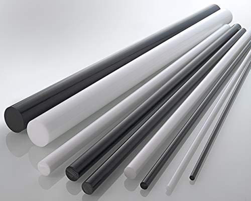 POM (Polyoxymethylen) Rundstab Rundstock Stab Ø 6-200 mm - Farbe: Schwarz (15 mm, 1000 mm)