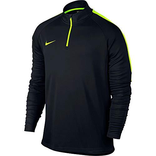 Nike Herren Drill Top Academy Drill Top, Black/Volt/Volt, M, 839344-018