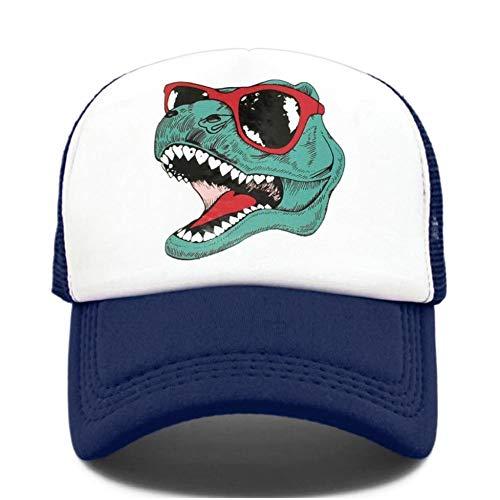 HAPKQZY Park Trucker Cap Hommes Funny Cool Trucker Cap Jurassic World Cool Black Mesh Cool Cap