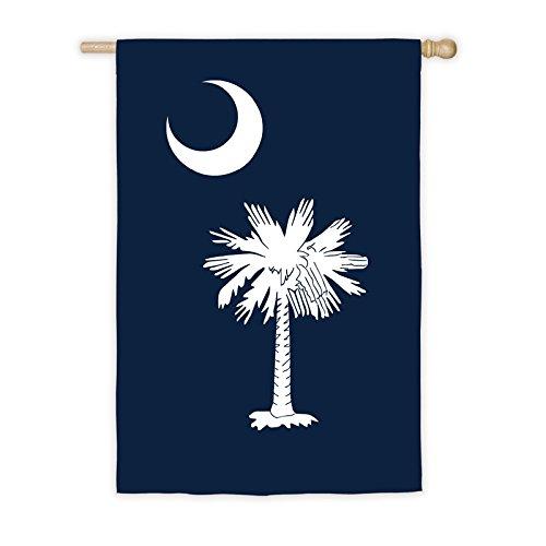 Evergreen Flag South Carolina State Applique House Flag - 28 x 44 Inches Outdoor Decor for Homes and Gardens