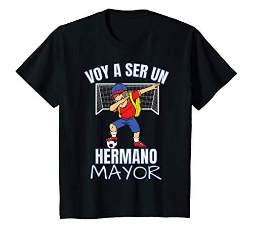 Niños Voy A Ser Un Hermano Mayor Fútbol Dabbing Hijo Big Brother Camiseta