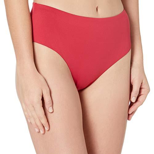 Seafolly Women's Clean Finish Wide Side Bikini Bottom Swimsuit, Rouge, 4