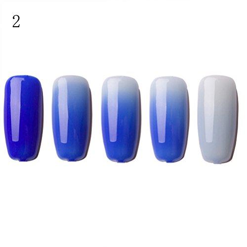 HEETEY 6ML Farbwechselgel Nagellack Nail Art Nagelgelpoliermittel Temperaturwechsel Nagellack