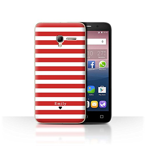 Stuff4Phone Case/Cover/Skin/alcpop35/Custom Stripes/Striped Collection Coeur Rayé Rouge