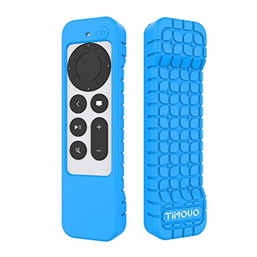 TiMOVO Funda Protectora Compatible con 2021 Apple TV 4K Siri Remote (2ª Gen), Cubierta de Silicona a Prueba de Golpe y Antideslizante Solo para Apple TV 4k 2021 Mando a Distancia Siri 2ª Gen, Azul
