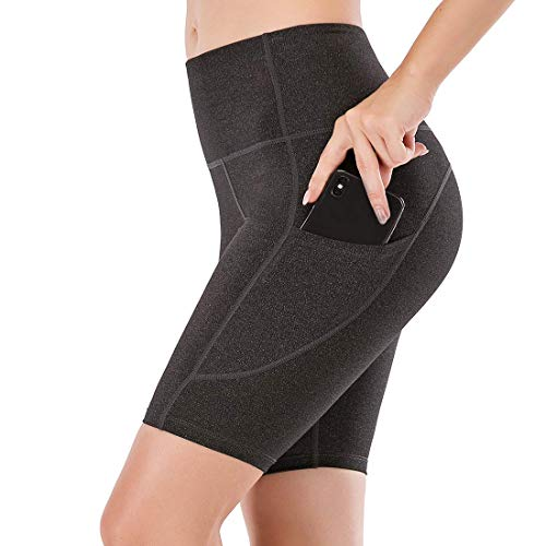 Lianshp Yoga Shorts with Pockets for Women High Waist Tummy Control Athletic Workout Running Shorts 8