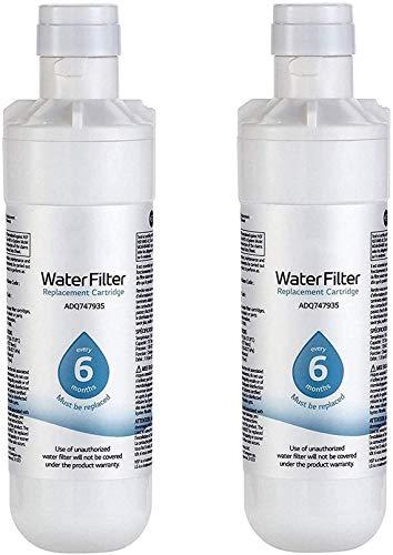 RSVT LT1000P Filtro de Agua para refrigerador, 6 Meses / 200 galones de Capacidad Filtro de Agua para refrigerador de Repuesto, Compatible con ADQ74793501, ADQ74793502, Kenmore 46-9980,6pack