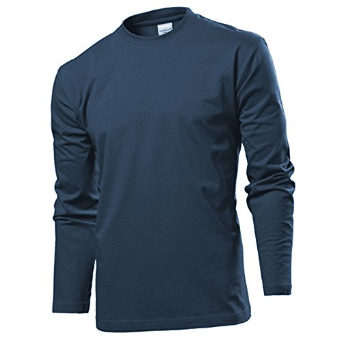 Stedman Langarm T-shirt Shirt S M L XL XXL XXL NavyBlue L