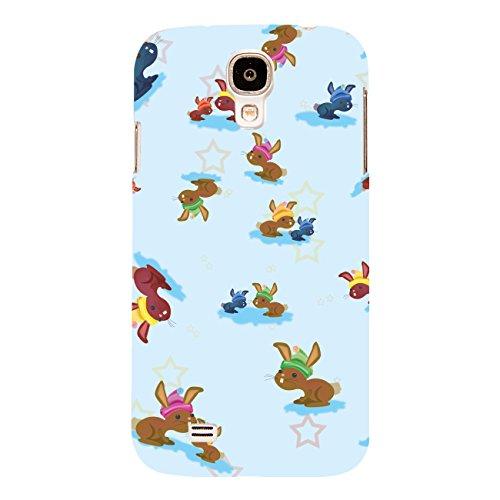 DISAGU Design Case Custodia Protettiva per Samsung Galaxy S4Custodia Cover–Coniglietti nella Neve