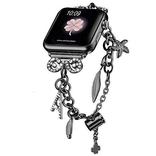 Secbolt Bling Bands Women's Interchangeable Charms Adjustable Bracelet
