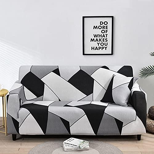 WXQY Fundas de Tela Escocesa elásticas Antideslizantes para sofá Funda de sofá para Mascotas Esquina en Forma de L Funda de sofá Antideslizante A13 4 plazas