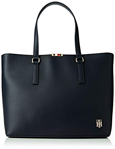 Tommy Hilfiger, SAFFIANO TOTE Donna, Capitano Sky, OS