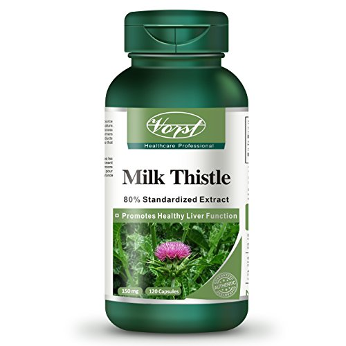 VORST Milk Thistle 85% Silymarin with 25:1 Extract Ratio (3750mg Raw Extract Equivalent) 120 Capsules | Supplement For…