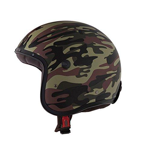 Caberg Freeride Commander Motorradhelm Motorrad Roller Offenes Jet Helm Grüne Camouflage L (59-60cm)