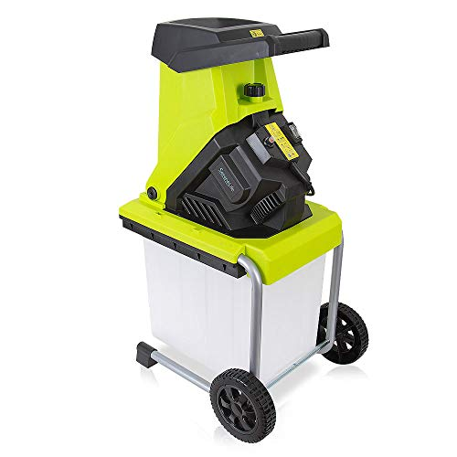 Electric Corded Shredder Chipper Mulcher - 15 Amp 50 Liter 3-in-1 Plug in Leaf and Wood Mulching Machine w/High Power Cutting Blade - Makes Nutrient-Rich Home Garden Yard Mulch - SereneLife PSLHTM65