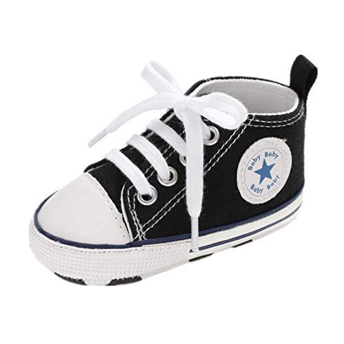 Auxma Niedlich Kind Baby Säugling Junge Mädchen weiche Sohle Kleinkind Schuhe Leinwand Sneak (0-6 Monat, ZZ)