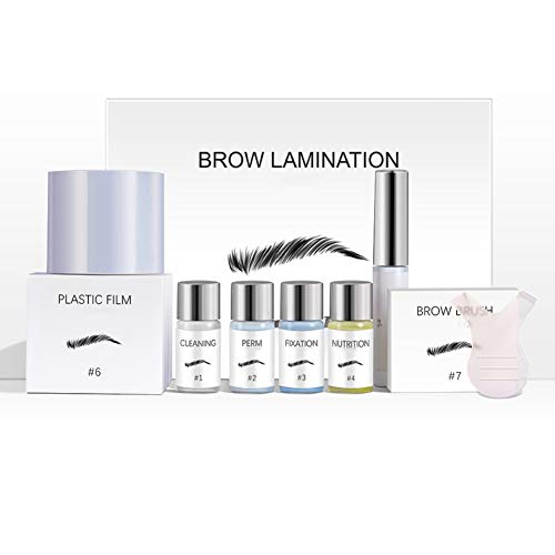 Brow Lamination Kit Professional Eyebrow Lift Perming Kit Perfect Full Fluffy Sculpt Brows Styling Long Duration Easy To Use Home Salon Makeup, Including Y Brush and Film(Pattern A)