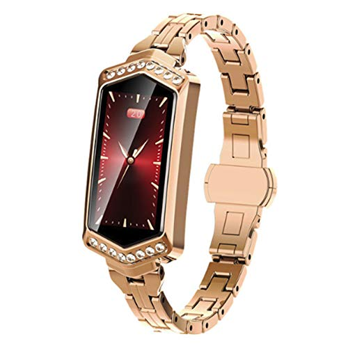 B78 Smart Horloges van de Vrouwen 2019 Waterdichte Hartslag-monitoring stappenteller Bluetooth voor Android IOS Fitness Armband Smartwatch,Gold