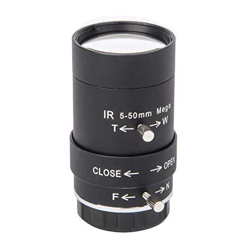 "Xenocam CCTV Security Camera Lens 5-50mm Megapixel Manual Varifocal Lens Manual Zoom CMOS/CCD 1/3"" CCTV Lens IR CS Mount CCTV Security Camera(No IR Filter)"