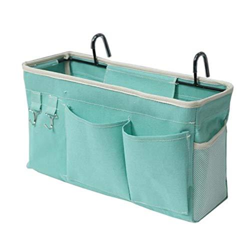 Bed Bag Bed Organizer Hanging Bag Loft Bag Storage Bag for Book, Magazine, Toy, Mobile Phone, Headphone (Color : Green)