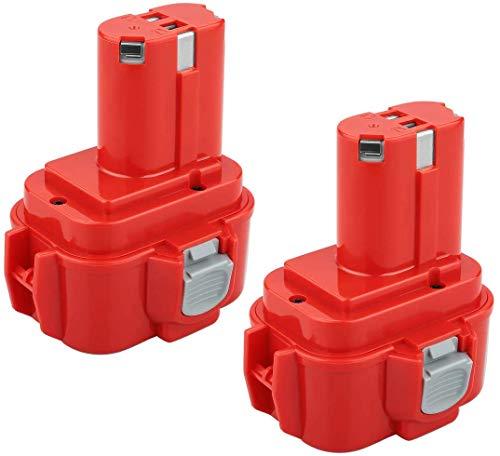 POWER-XWT 2Pcs 9,6V 3,0Ah Ni-MH Batería de Reemplazo para Makita 9120 9134 9135A 9100A 9102 6207D 6261D 6207D PA09 Batería
