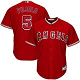 Outerstuff Albert Pujols Los Angeles Angels MLB Boys Youth 8-20 Player Jersey (Red Alternate, Youth Small 8)