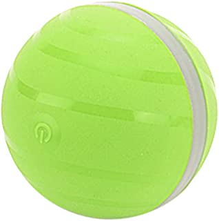 youeneom Cats and Dogs Toys Wicked Balls, USB Rechargeable, 360 Degree Self Rotating Ball Automatic Light Chaser Toy Smart Interactive Pet Toy Ball Chew Gift for Pet Entertainment Exercise (Green)