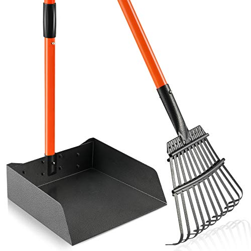 Living Express Pooper Scooper for Large Dogs Premium Material Not Easy to Break Long Handle Dog Poop Scooper for Grass