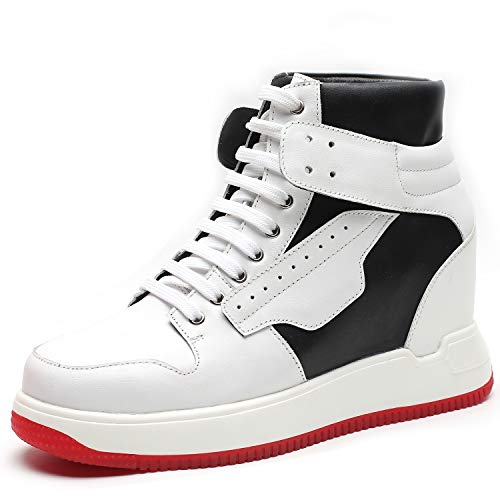 CHAMARIPA Elevator Sneaker da Uomo, 7CM Rialzo Interno Sneakers Alte con Tacco Interno Scarpe Basket, H91B58D011D