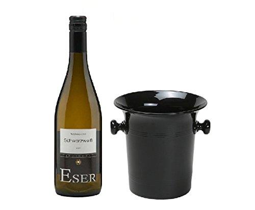 Hans Theo Eser Schwarzweiß Spätburgunder Blanc de Noir 12,5% 0,75l Fl in Wein Kübel