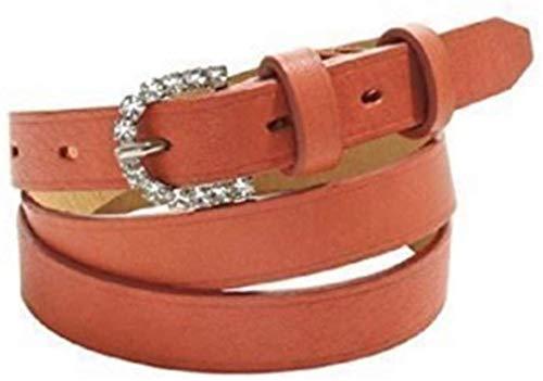 Heine Gürtel Damengürtel aus Rindleder Rot 85 cm