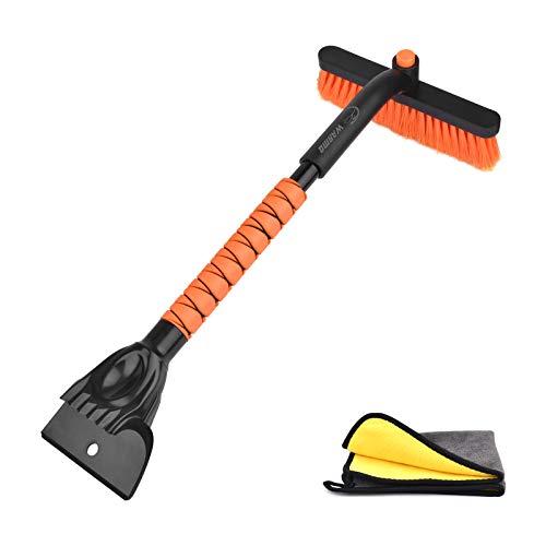 WARMQ Car Snow Brush Removal, Car Snow Scraper with Snow Brush Foam Grip Detachable Snow Mover for Car Auto SUV Truck Windshield Windows