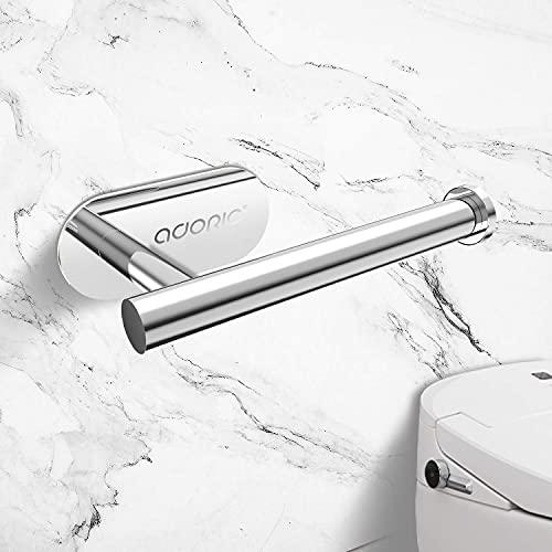 Adoric Papierhalter Toilettenpapierhalter 304 Edelstahl ohne Bohren, mit 2 * 3M Klebpapier Klopapierhalter für Küche und Badezimmer