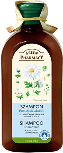 Champú de Camomila ( Manzanilla) 350ml/ Cabellos Frágiles y/o dañados .0% Parabenos Green Pharmacy