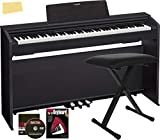 Casio Privia PX-870 Digital Piano - Black Bundle with Adjustable Bench, Instructional Book, Online Lessons, Austin Bazaar Instructional DVD, and Polishing Cloth