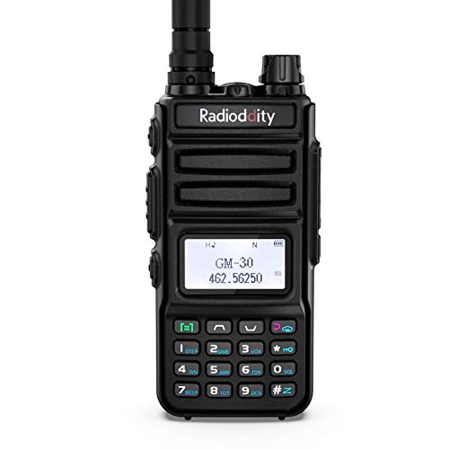 Radioddity GM-30 GMRS Handheld Radio, 5W Long Range Two Way Radio, GMRS Repeater Capable, with Dual Band NOAA Scanner & Receiver, USB Rechargeable, 250 CH, SYNC, VOX