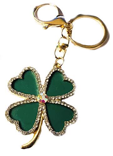 Klejnot zielony błyszczący pierścionek Bling Strass zawieszka kryształ Keychain breloczek do kluczy auto torebka akcesoria do telefonu komórkowego Wielkanoc urodziny rocznicę przyjaciel dziewczynka WWW.VIENNA FASHION.AT Austria (626)