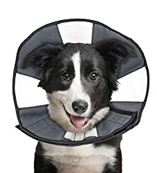 This adjustable collar cone is made of canvas with no plastic attributes, making it extra cushy for your pooch.
